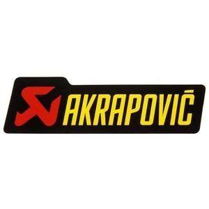 Akrapovic P-HST4PO hittebestendige sticker 21x70mm