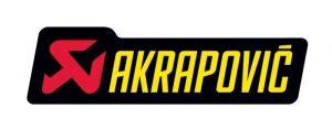 Akrapovic P-HST6AL hittebestendige sticker 34x120mm