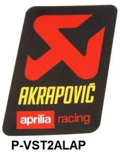 Akrapovic P-VST2ALAP hittebestendige sticker 89x57mm