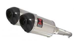 BWE Slip-On RVS Ovaal 200mm voor GPZ500 S 1987-2009-EX500 A/D/E 87-07