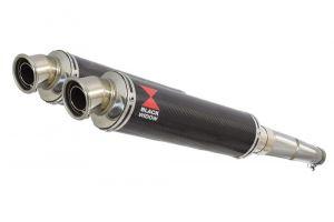 BWE Slip-On Carbon Rond 350mm voor GPZ500 S 1987-2009-EX500 A/D/E 87-07