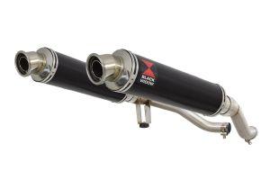 BWE Slip-On Zwart RVS Rond 350mm voor GW 250 Inazuma-GW 250 S/F (USA)-GSR 250