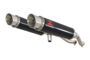 BWE Slip-On Zwart RVS Rond 360mm voor GW 250 Inazuma-GW 250 S/F (USA)-GSR 250