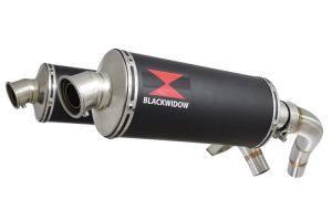 BWE Slip-On Zwart RVS Ovaal 300mm voor ST1100 (SC26) Pan European 1989-2001