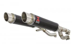 BWE Slip-On Carbon Rond 350mm voor V-MAX 1200 1984-2007