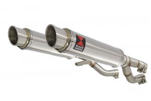 BWE Slip-On RVS Rond 350mm voor V-MAX 1200 1984-2007