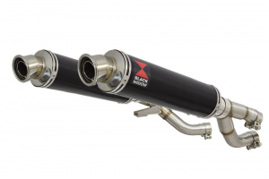 BWE Slip-On Zwart RVS Rond 350mm voor V-MAX 1200 1984-2007