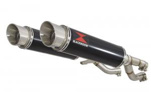 BWE Slip-On Zwart RVS Rond 360mm voor V-MAX 1200 1984-2007