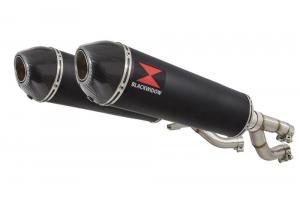 BWE Slip-On Zwart RVS Ovaal 400mm voor V-MAX 1200 1984-2007