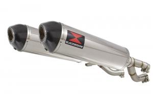 BWE Slip-On RVS Ovaal 400mm voor V-MAX 1200 1984-2007