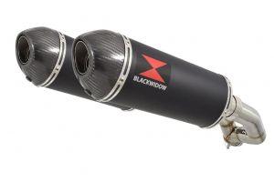 BWE Slip-On Zwart RVS Ovaal 300mm voor XT 660 Z Tenere 2008-2017