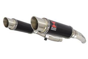 BWE Slip-On Zwart RVS Rond 230mm voor ZZR400 K1-N7 1990-1999-ZZR600 D1-D3 1990