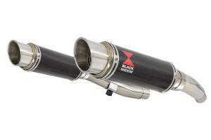 BWE Slip-On Carbon Rond 230mm voor ZZR400 K1-N7 1990-1999-ZZR600 D1-D3 1990