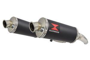 BWE Slip-On Zwart RVS Ovaal 300mm voor ZZR400 K1-N7 1990-1999-ZZR600 D1-D3 1990