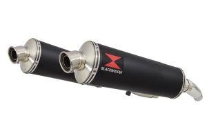 BWE Slip-On Zwart RVS Ovaal 400mm voor ZZR400 K1-N7 1990-1999-ZZR600 D1-D3 1990