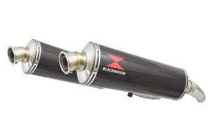 BWE Slip-On Carbon Ovaal 400mm voor ZZR400 K1-N7 1990-1999-ZZR600 D1-D3 1990
