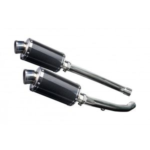 Delkevic slip-on kit Oval Carbon 225mm - ZZR1400 (2012-2020)