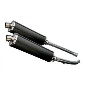 Delkevic slip-on kit Oval Carbon 450mm - ZZR1400 (2012-2020)
