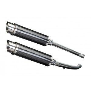 Delkevic slip-on kit Round Carbon 350mm - ZZR1400 (2012-2020)