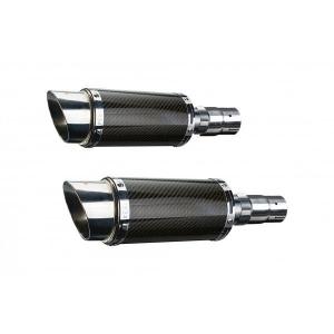 Delkevic slip-on kit Round Carbon 200mm - EN500C 1996-2009