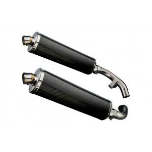 Delkevic slip-on kit Oval Carbon 450mm - ST1100 PAN EUROPEAN 89-02