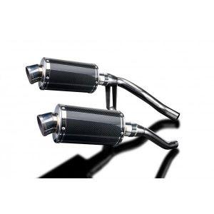 Delkevic slip-on kit Oval Carbon 225mm - GW250 Inazuma (2012-2017)