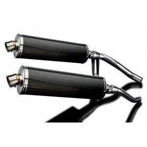 Delkevic slip-on kit Oval Carbon 450mm - GW250 Inazuma (2012-2017)