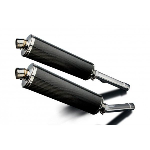Delkevic slip-on kit Oval Carbon 450mm - CBR1100XX BLACKBIRD (1996-2009)
