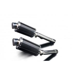 Delkevic slip-on kit Oval Carbon 225mm - CBR1100XX BLACKBIRD (1996-2009)