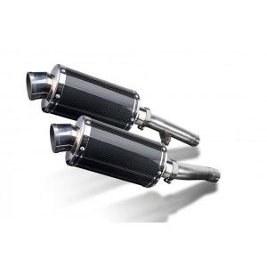 Delkevic slip-on kit Oval Carbon 225mm - FJ1200 (3XW) (1991-1996)