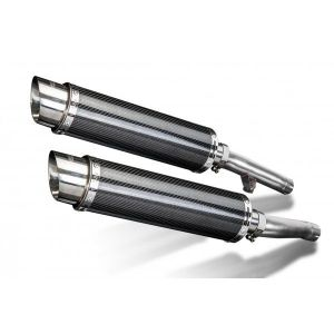 Delkevic slip-on kit Round Carbon 350mm - FJ1200 (3XW) (1991-1996)