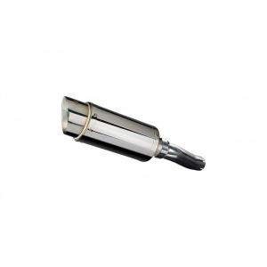 Delkevic slip-on kit Round RVS 200mm - CBF600N (ABS) (2008-2012)