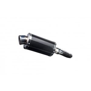 Delkevic slip-on kit Oval Carbon 225mm - CBF600N (ABS) (2008-2012)