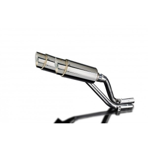 Delkevic slip-on kit Round RVS 200mm - NX650 Dominator 95-02