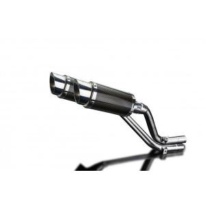 Delkevic slip-on kit Round Carbon 200mm - NX650 Dominator 95-02