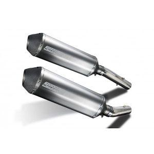 Delkevic slip-on kit X-Oval Titanium 343mm - TUONO1000R/ FACTORY (2006-2010)