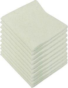 10 poetsdoeken synthetisch 38x34 cm wit
