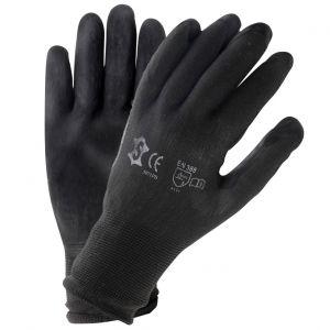 Motorfiets werkhandschoenen PU zwart maat 9 (L)