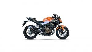 IXIL Hyperlow black XL RVS-Uitlaat voor Honda CBR 500 R / CB 500 F, 19- (PC62,PC63) (Euro4)