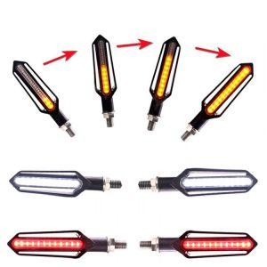 Knipperlicht LED, 4 stuks, tevens dagrijlicht en remlicht