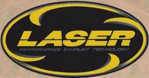 Laser uitlaat hittebestendige sticker 16x8 cm