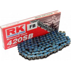 Losse motorketting 420 (1/2 x 1/4) per 2 schakels RK 420 SB BL
