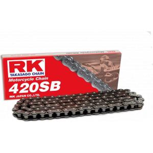 Losse motorketting 420 (1/2 x 1/4) per 2 schakels RK 420 SB