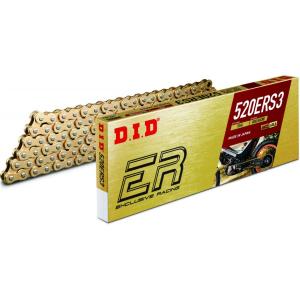 Losse motorketting 520 (5/8 x 1/4) per 2 schakels DID 520 ERS3 goud