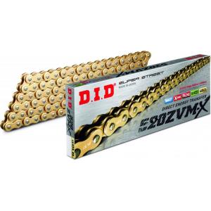 Losse motorketting 520 (5/8 x 1/4) per 2 schakels DID 520 ZVMX goud  (X-Ring)