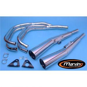 Marving Volledig systeem Verchroomd staal voor Honda CB 750