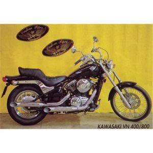 Marving uitlaat Verchroomd staal voor Kawasaki VN 800