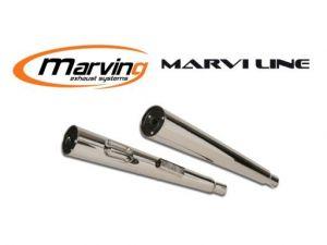 Marving Universele demper Verchroomd staal 32-35-38mm