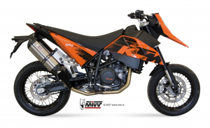 MIVV Bolt-On SUONO RVS KTM 690 SM 2007-2012