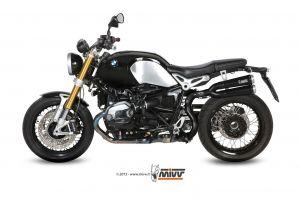 MIVV Slip-On X-cone RVS BMW R NINE T 2014 >